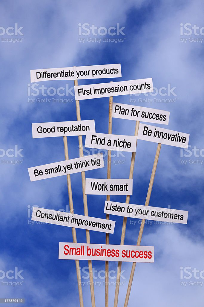 Small business diagram royalty-free stock photo