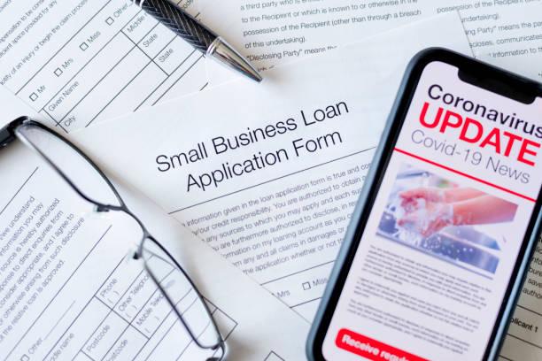 Antragsformular für Darlehen für kleine Unternehmen. – Foto