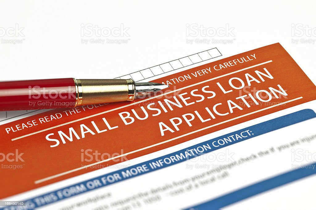 Small Business Loan Application stock photo