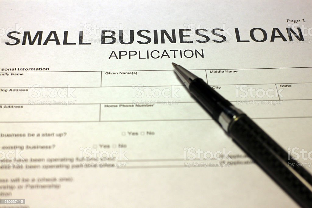Small Business Loan Paperwork stock photo
