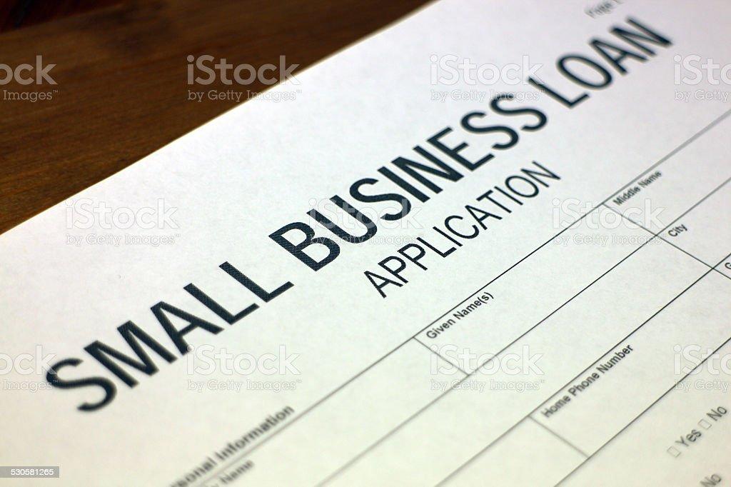 Small Business Loan stock photo