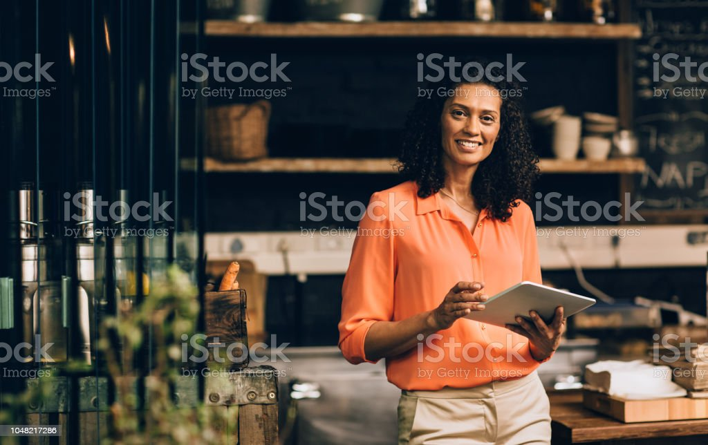 Small business management in the age of the app stock photo