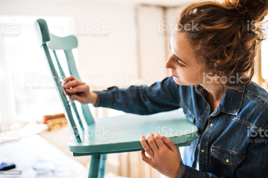 Small business of a young woman. stock photo