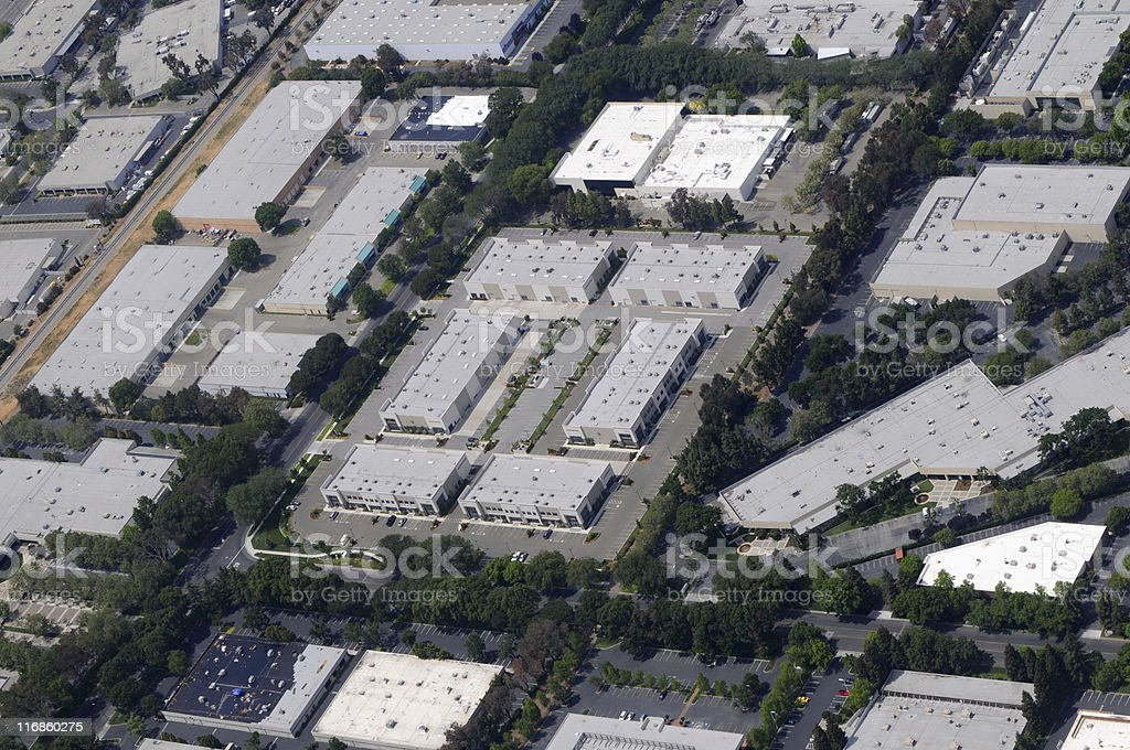 small business office space aerial view royalty-free stock photo