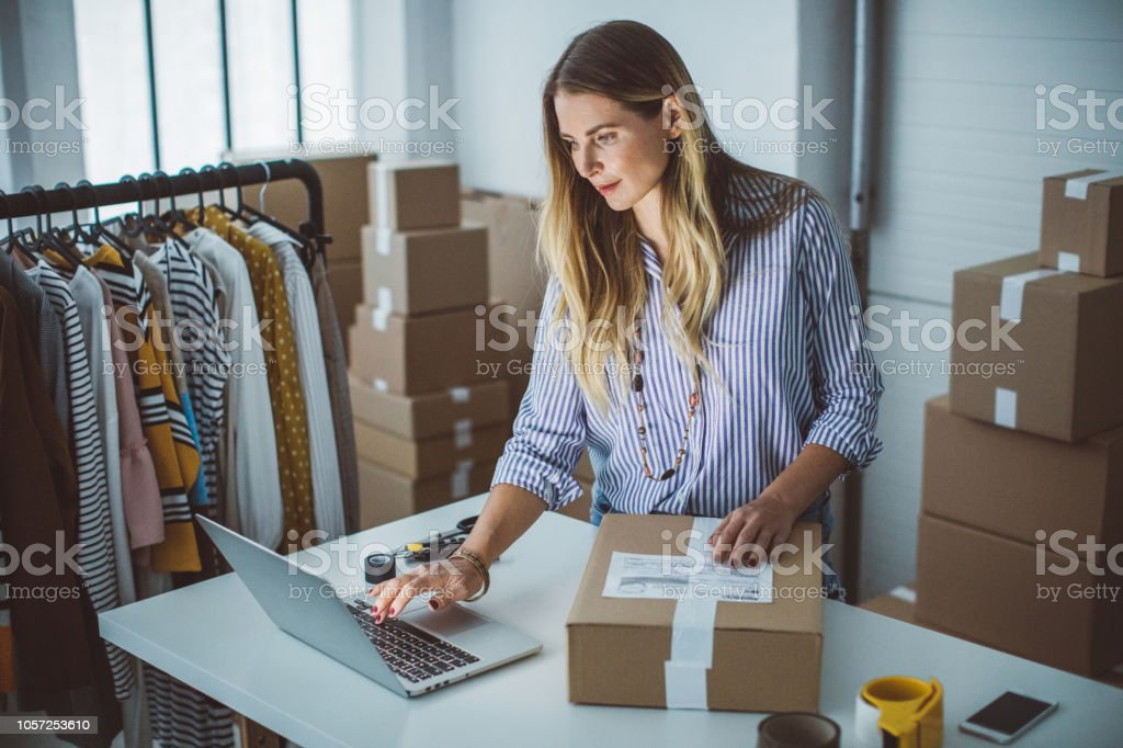 Small business owener stock photo