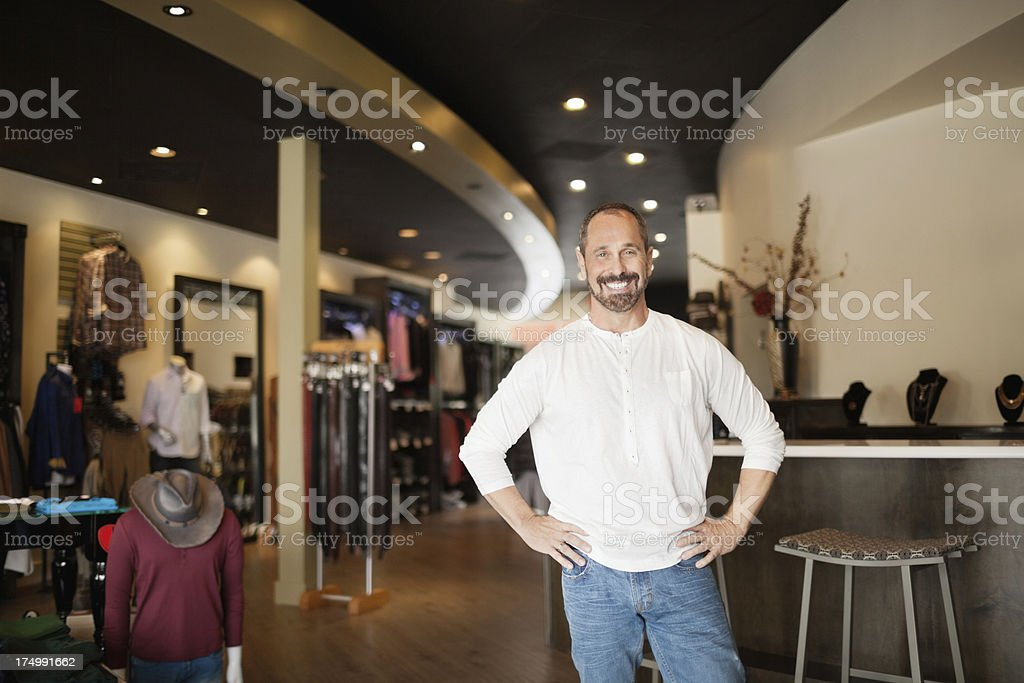 Small business owner portrait royalty-free stock photo