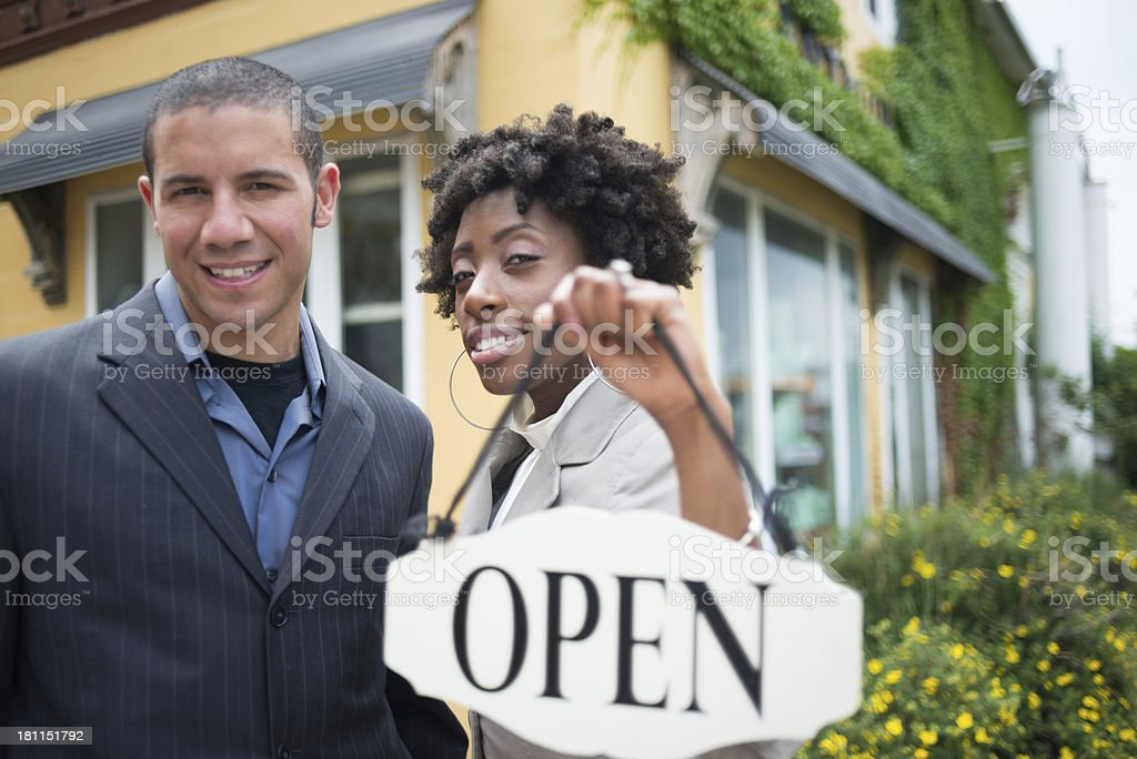 Small Business Owners royalty-free stock photo