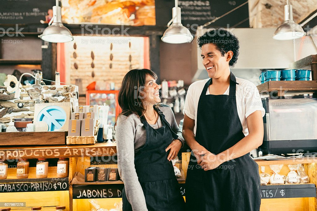 Small Business Owners stock photo