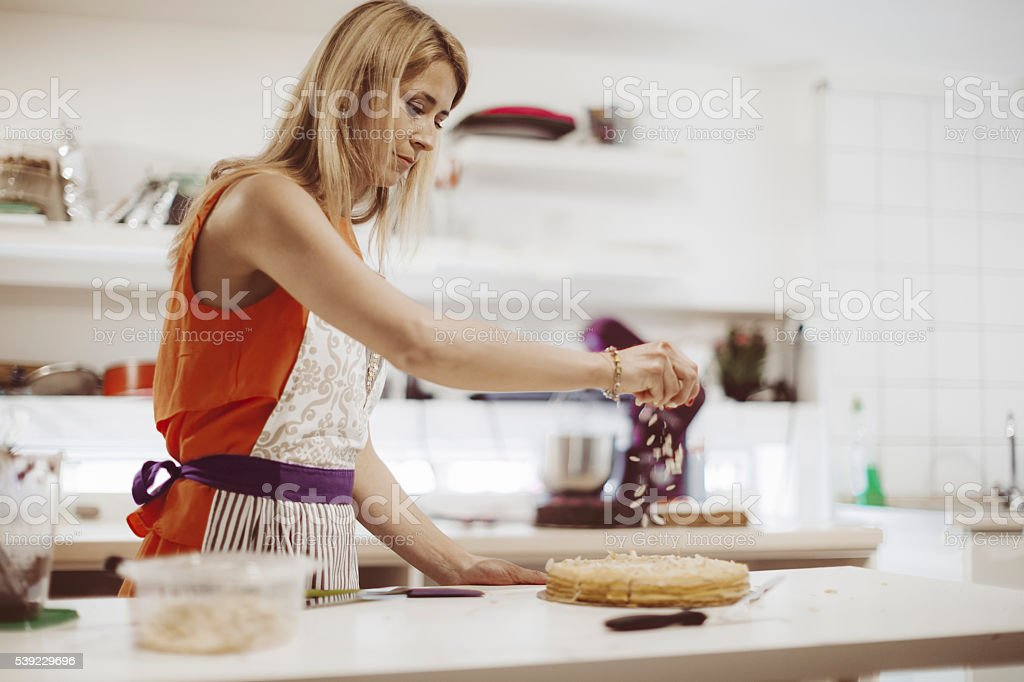 Small business - pastry shop stock photo