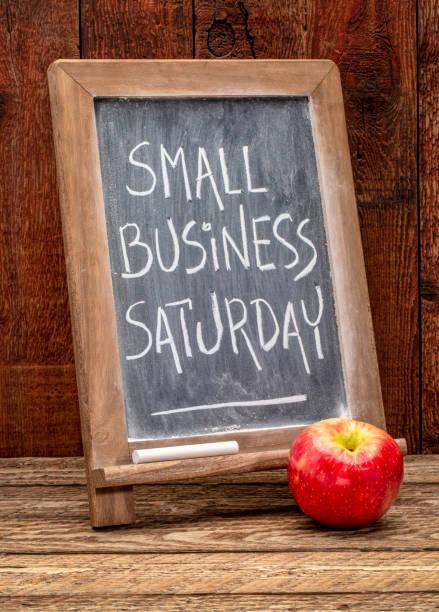 小企業週六黑板標誌 - small business saturday 個照片及圖片檔