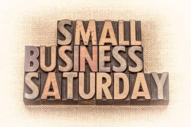 소규모 비즈니스 토요일 목조 유형 - small business saturday 뉴스 사진 이미지