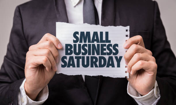 Small Business Saturday stock photo