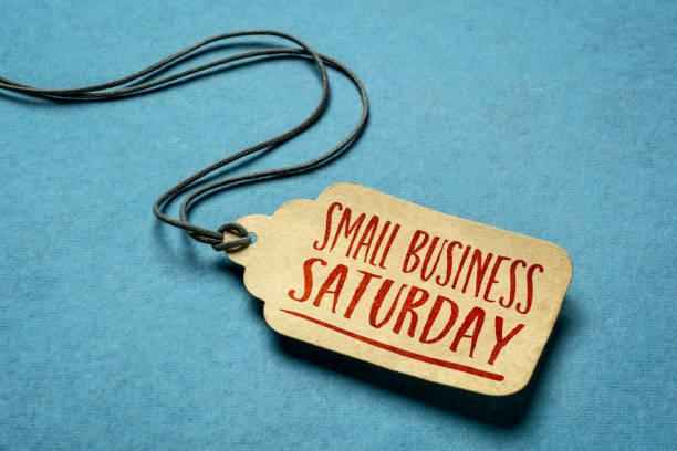 小型企業星期六文本的價格標籤。 - small business saturday 個照片及圖片檔