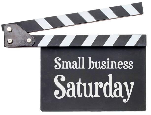 小型企業星期六文本上隔板 - small business saturday 個照片及圖片檔