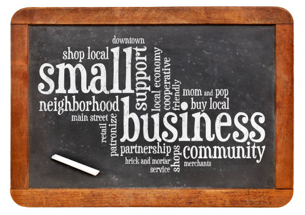 small business word cloud stock photo