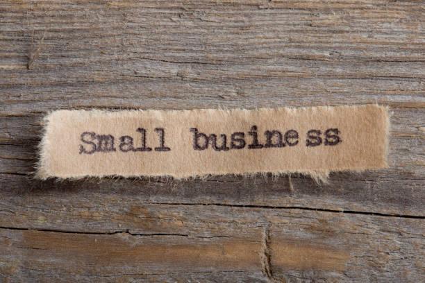小企業字在一張紙上關閉, 企業創意激勵理念 - small business saturday 個照片及圖片檔