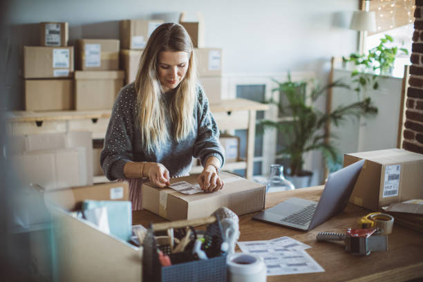 Small business worker stock photo