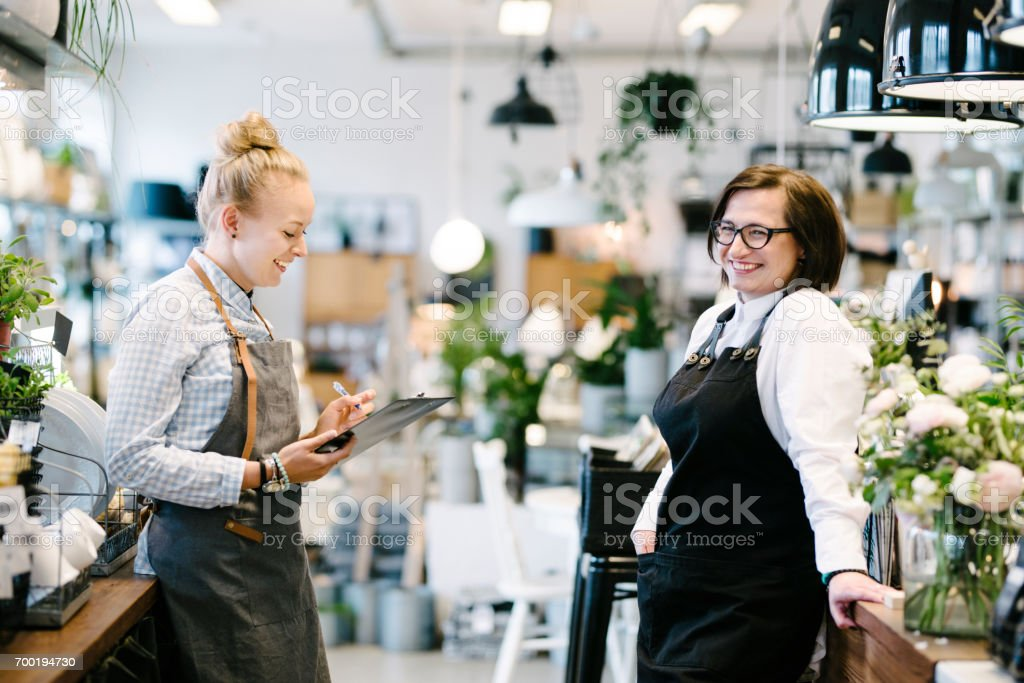 Small Business Workers stock photo