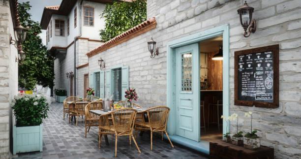 Small Café Exterior stock photo