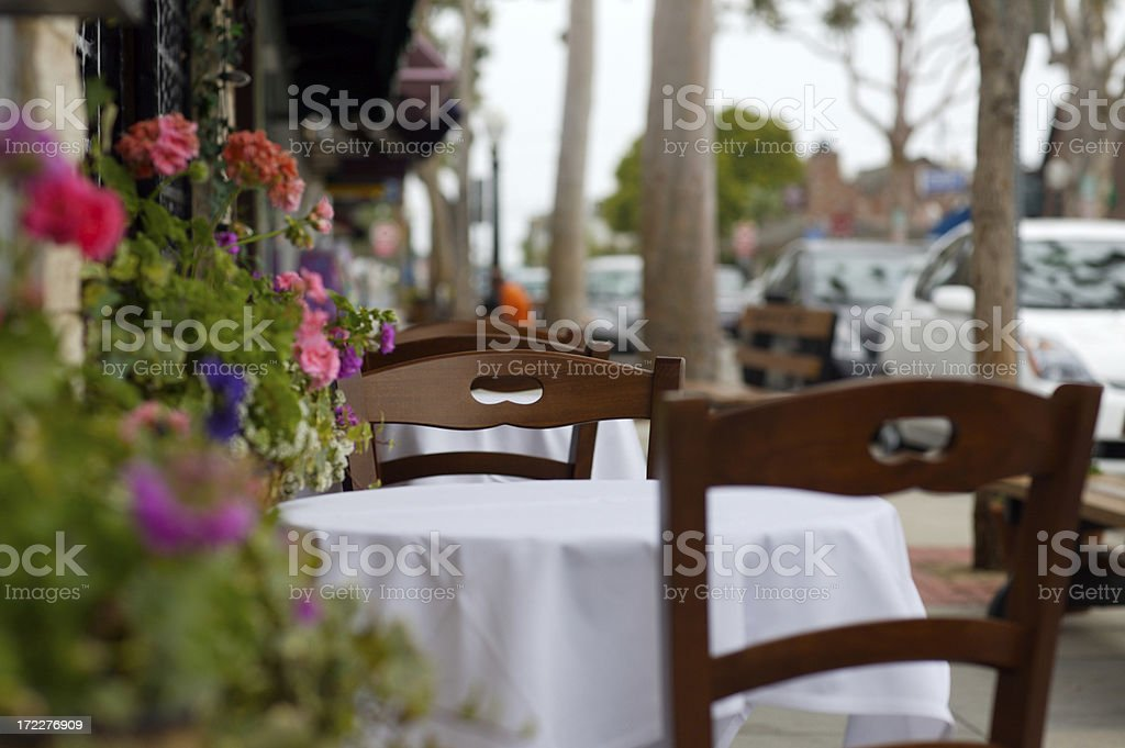 Small Cafe Street Table royalty-free stock photo