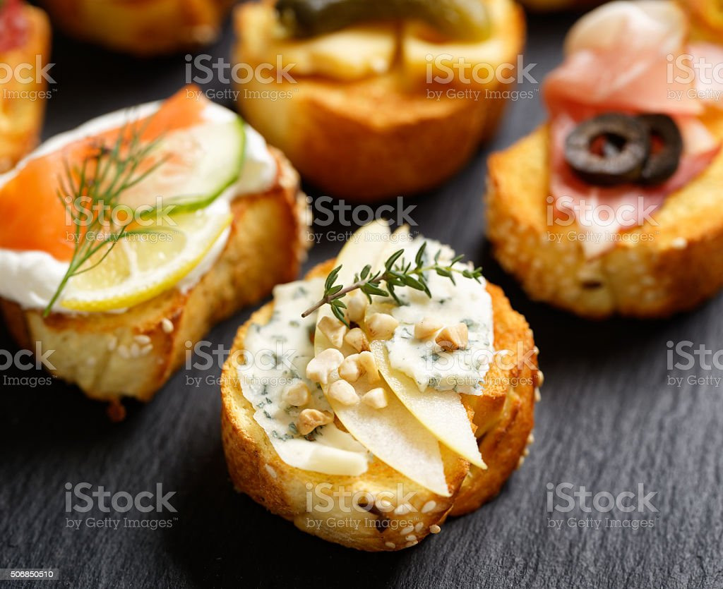 Small canape stock photo