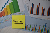 istock Small Cap write on sticky notes isolated on Office Desk. Stock market concept 1283342758