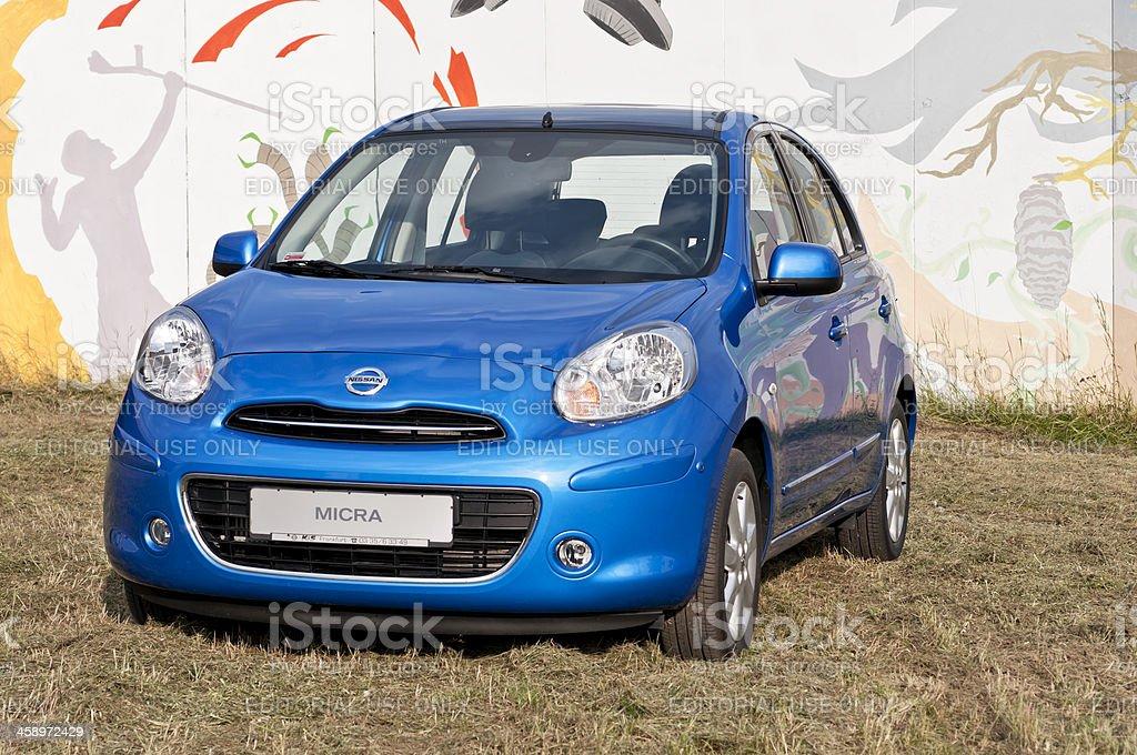 Small car Nissan Micra stock photo