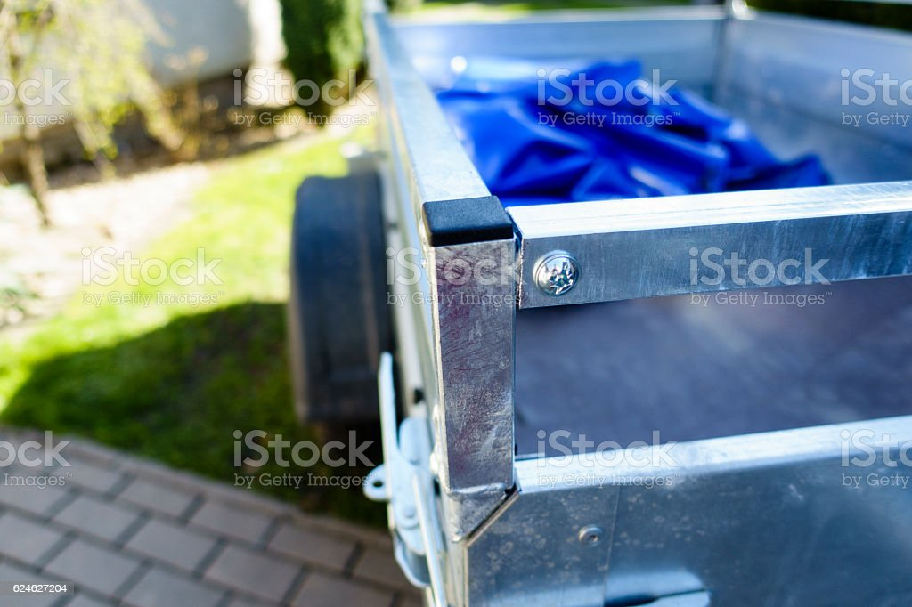 small car trailer stock photo