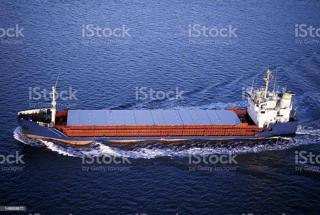 Small Cargo Ship. royalty-free stock photo