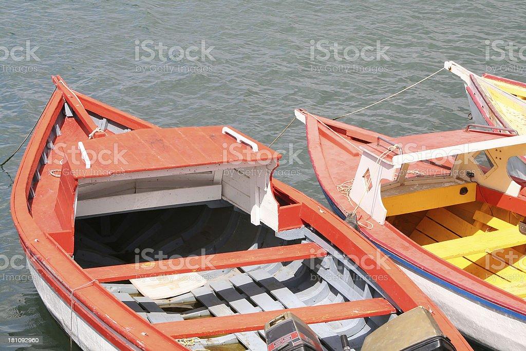 Small Caribbean Fishing Boats royalty-free stock photo