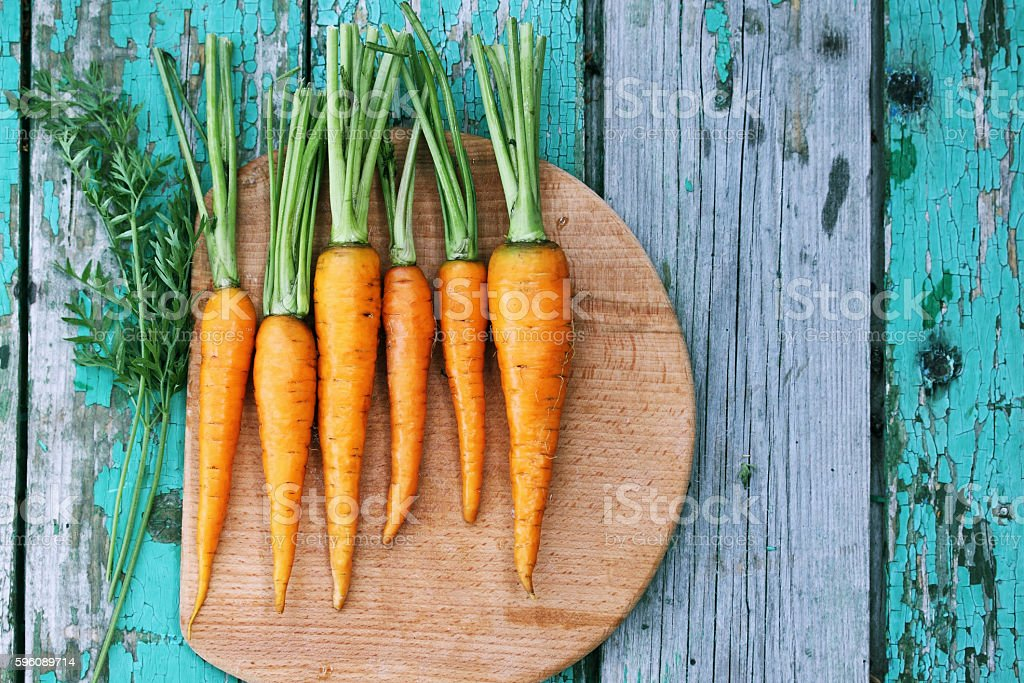 small carrots, top view royalty-free stock photo