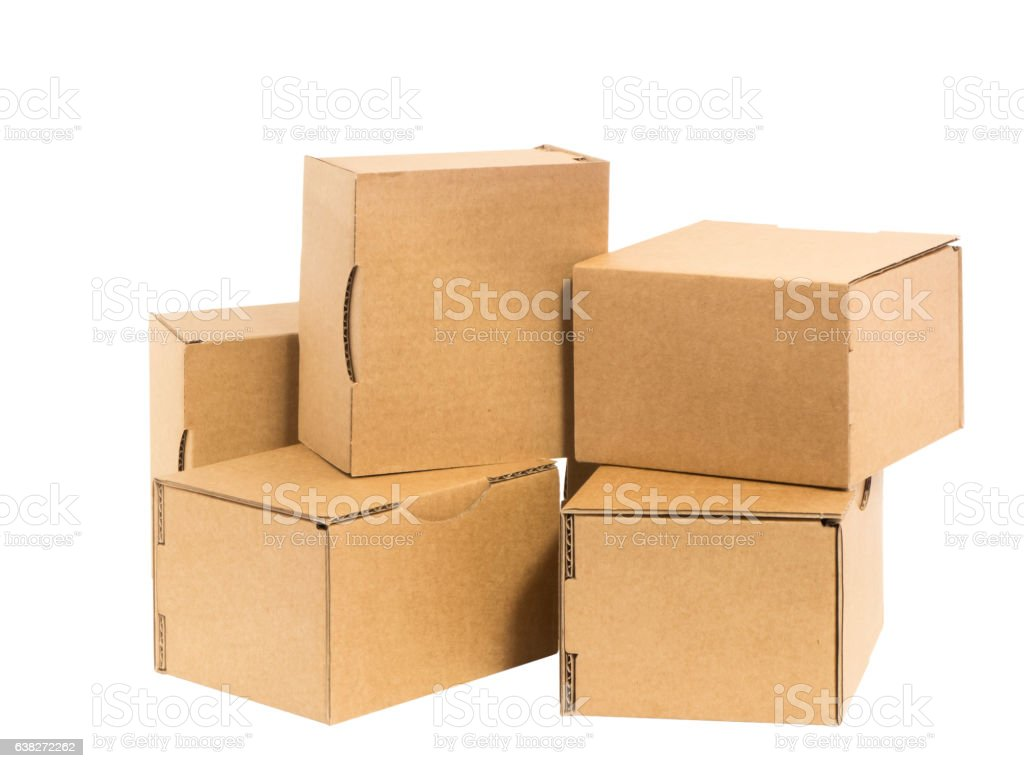small cartons stock photo