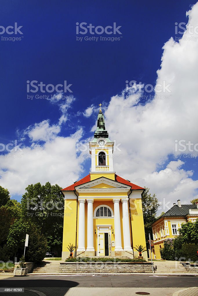 Small cathedral in Frantiskovy Lazne stock photo