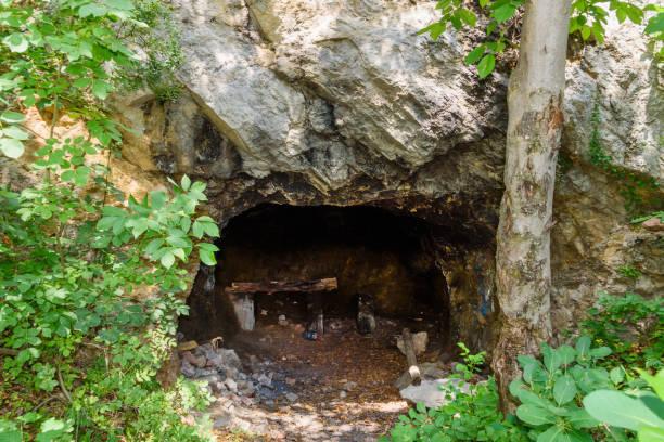 A small cellar on Fruska gora in Serbia stock photo
