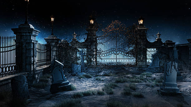 small cemetery - gothic style stock pictures, royalty-free photos & images