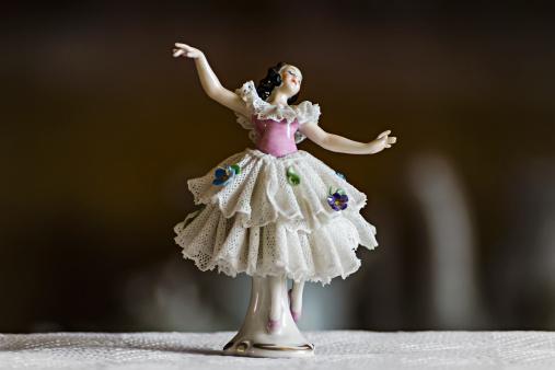 small ceramic statuette dancer