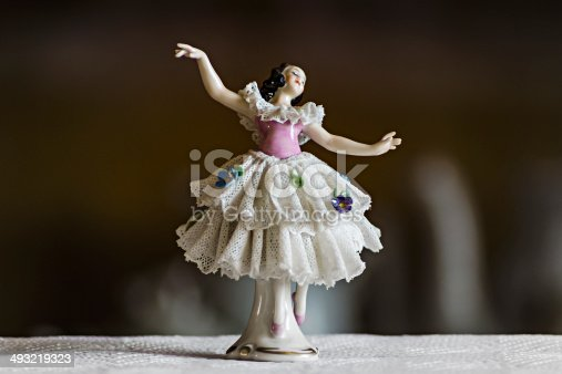 small ceramic statuette dancer