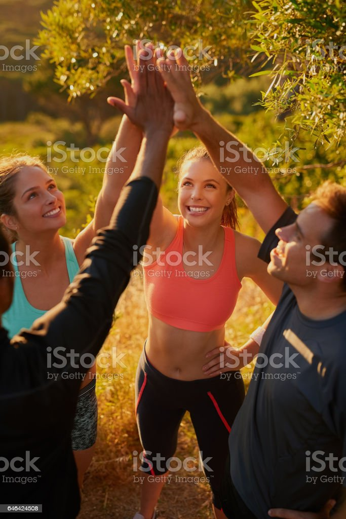 Small challenges eventually add up to big results stock photo
