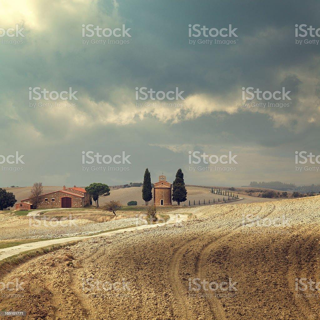 Small chapel in Tuscany royalty-free stock photo