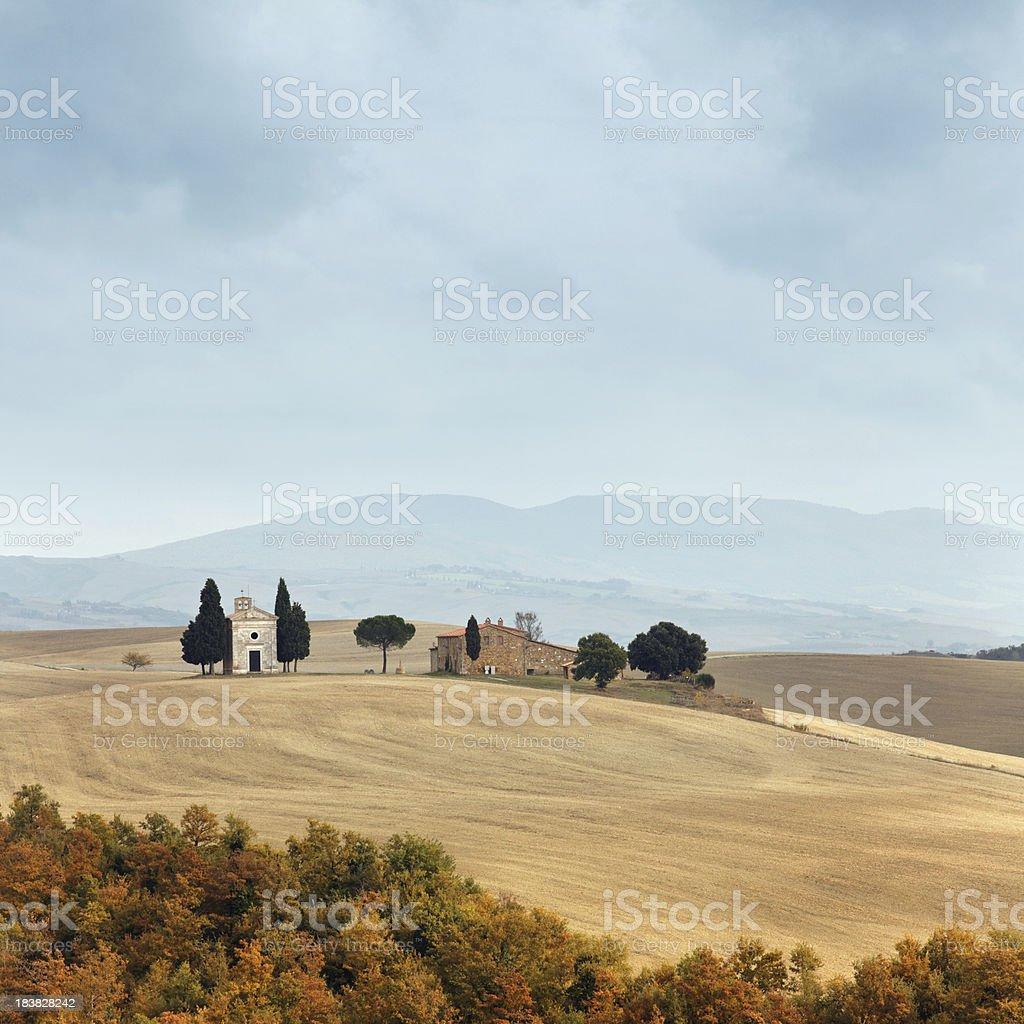 Small chapel in Tuscany stock photo