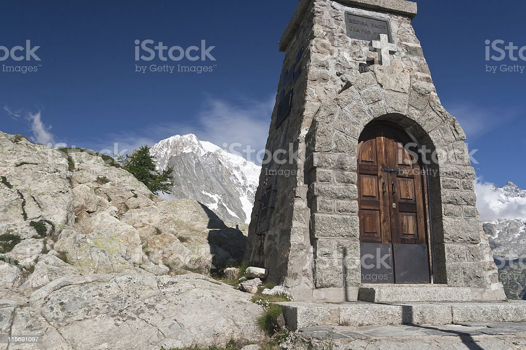 small chapel, Mont Chetif royalty-free stock photo