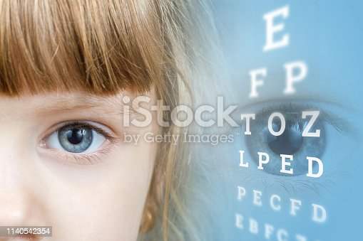 istock A small child at ophthalmologic diagnostic center. 1140542354