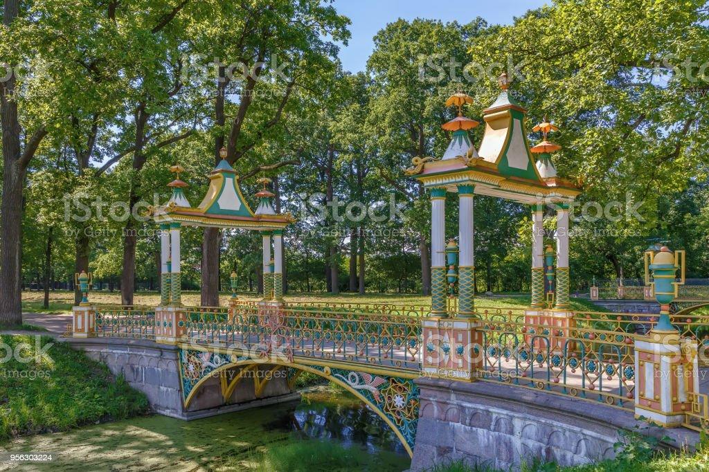 Small Chinese Bridges, Tsarskoye Selo, Russia stock photo