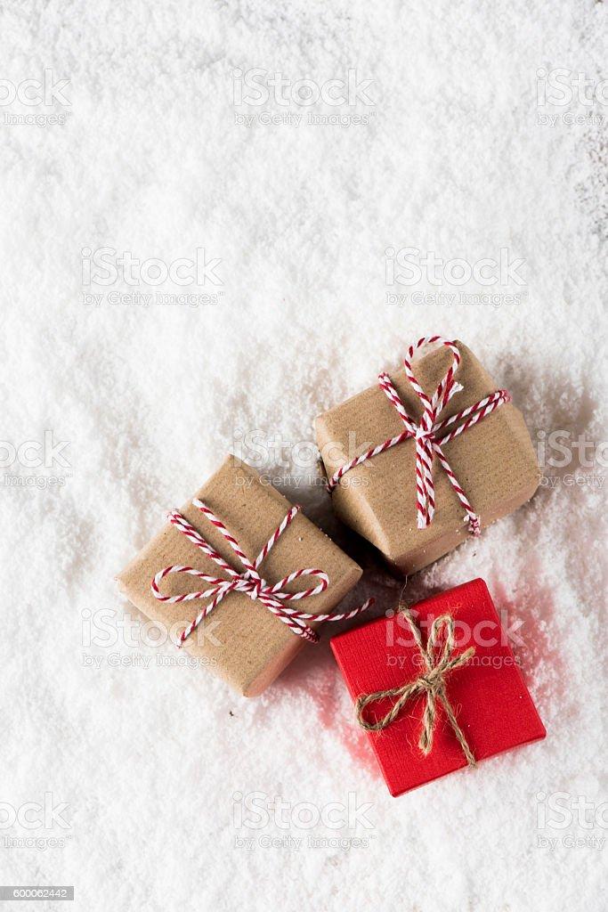 Small Christmas homemade gifts stock photo