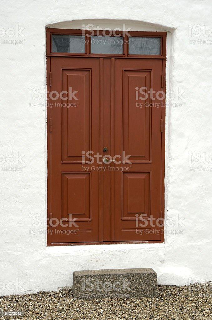 Small Church Door royalty-free stock photo