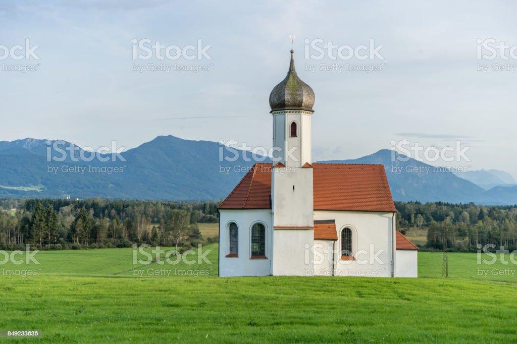 small church in Bavaria stock photo