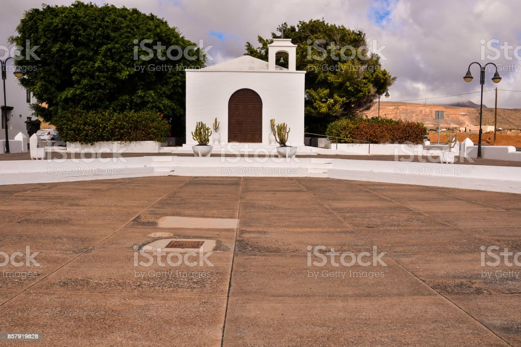 Small Church in Spain stock photo