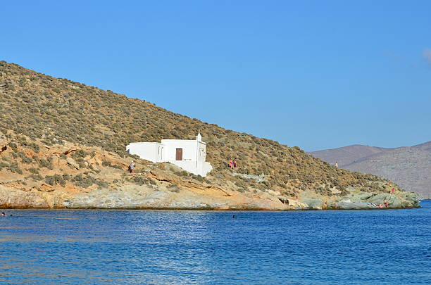 Small Church in Tinos Island - Greece stock photo