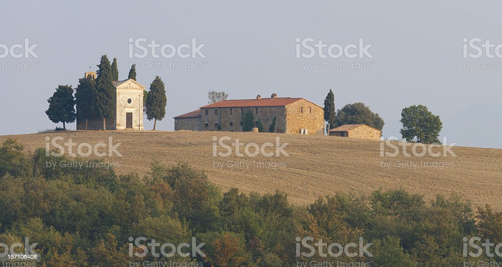 Small Church in Val d'Orcia royalty-free stock photo