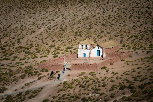 馬丘卡的小教會在 san pedro de atacama, 殖民地教會智利 - 阿爾蒂普拉諾山脈 個照片及圖片檔